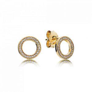 PANDORA Boucles d'oreilles Pandora 267112CZ - Boucles d'oreilles Pandora Pour Toujours Shine